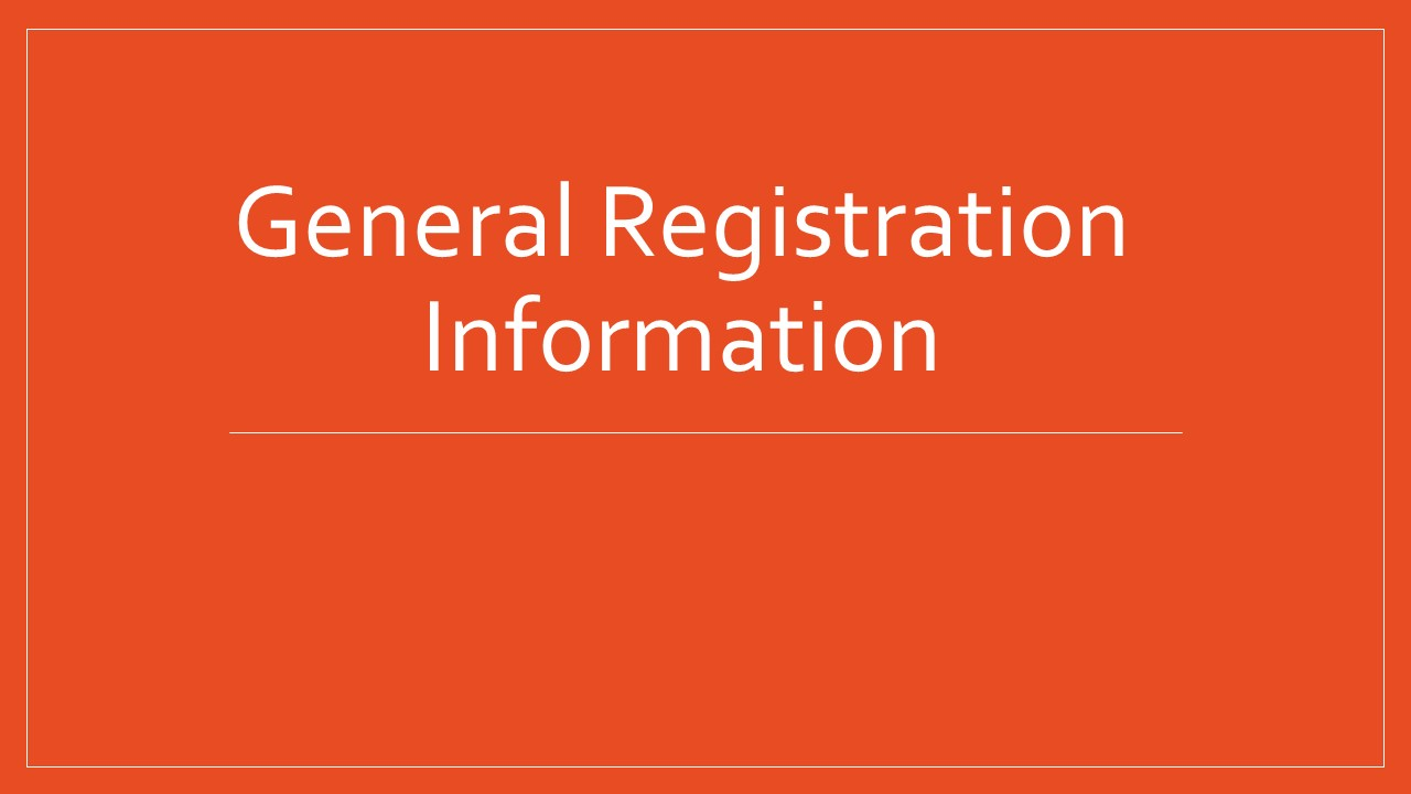 Overview of Registration Requirements
