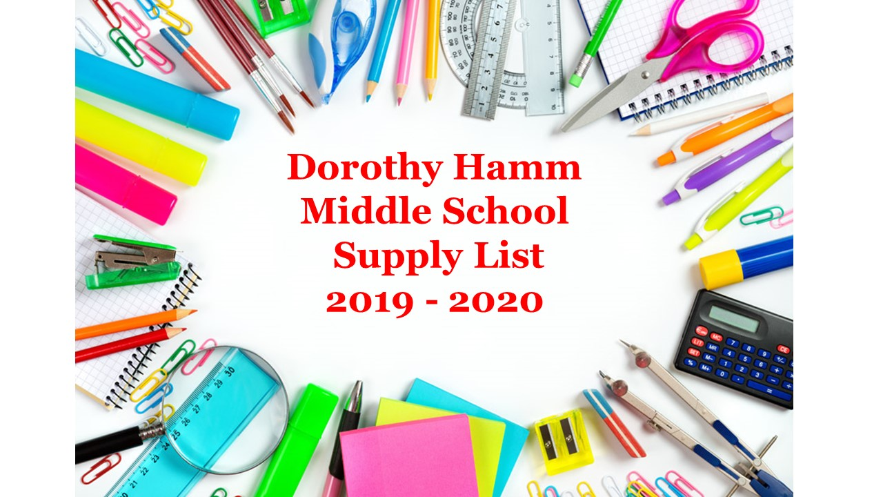 Check out the DHMS Supply List 2019-2020
