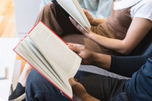 parents reading books