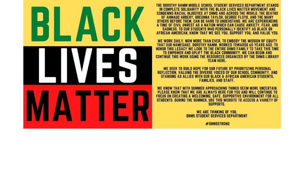 Black Lives Matter Statement of Support