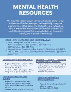 Mental Health Resources, 1