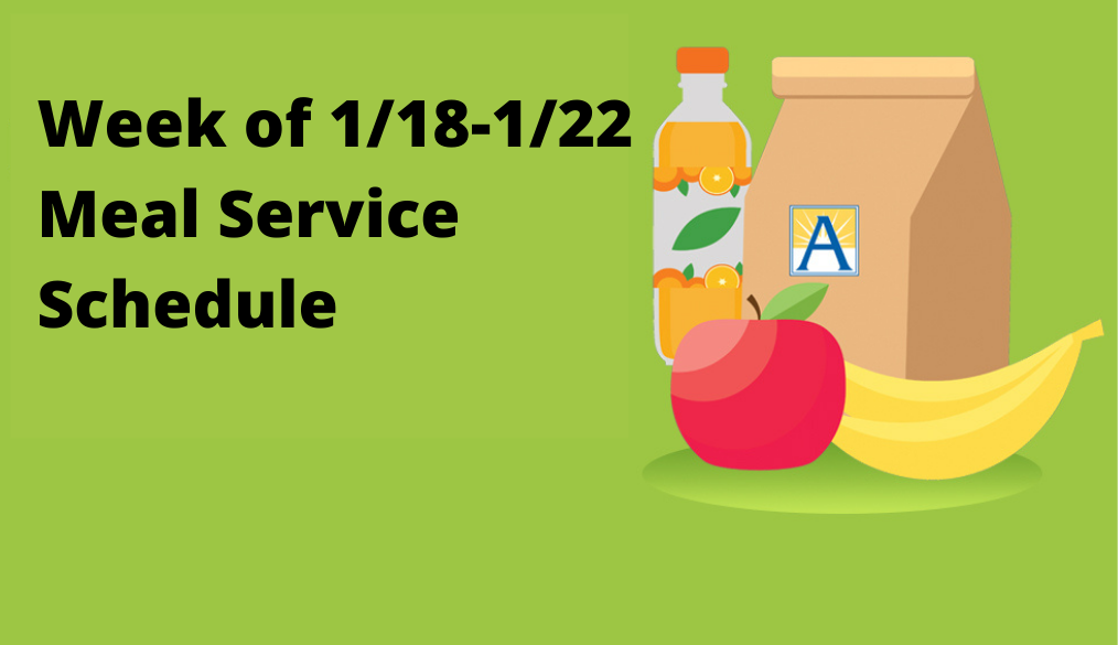 Meals for All Students, 1/18-1/22